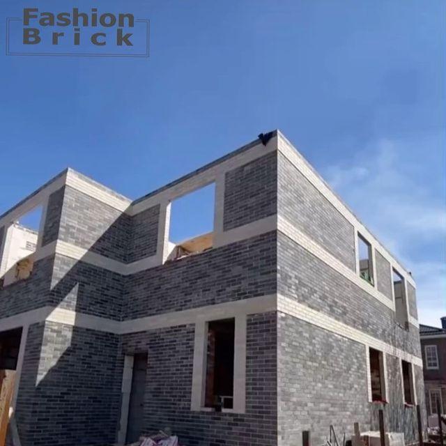 Изображение частный Дом построенный из литос фашион брик ситибрик